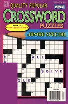 Quality Popular Crossword Puzzles Jumbo Magazine 2/28/2011