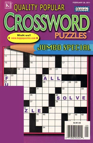 Quality Popular Crossword Puzzles Jumbo Magazine | 2/2011 Cover
