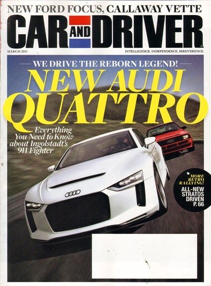 Car And Driver Cover - 3/1/2011