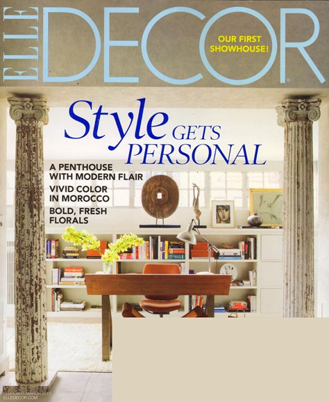 ELLE DECOR Cover - 2/1/2011