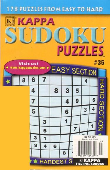 Blue Ribbon Kappa Sudoku Puzzles Cover - 2/1/2011