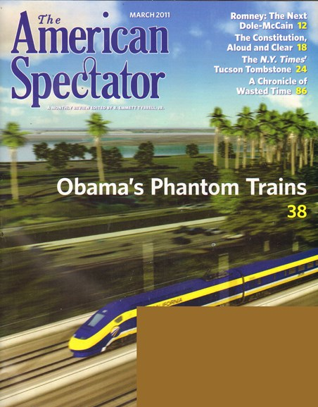 The American Spectator Cover - 3/1/2011