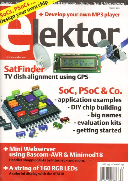 Elektor - North American Edition Cover - 3/1/2011