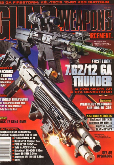 Guns & Weapons For Law Enforcement Cover - 5/1/2011