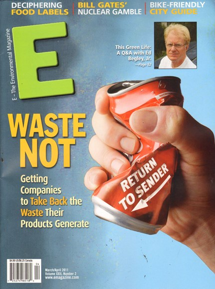 E: The Environment Magazine Cover - 3/1/2011