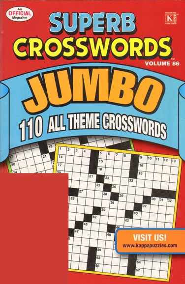 Superb Crosswords Jumbo Cover - 5/1/2011