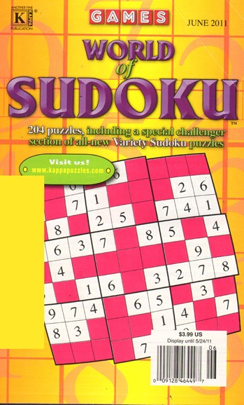 World Of Sudoku Cover - 6/1/2011