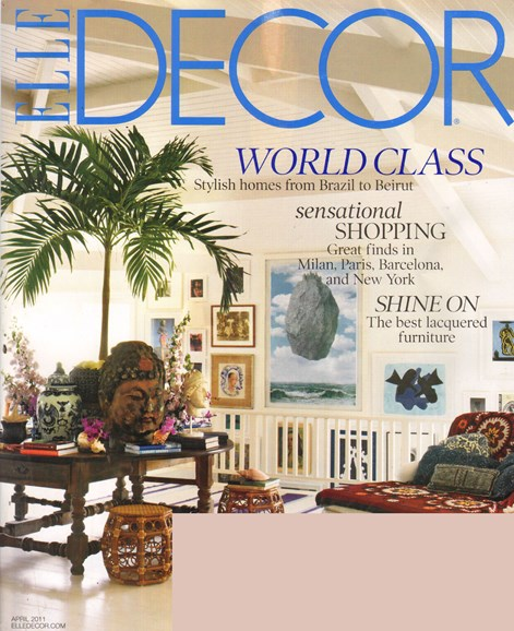 ELLE DECOR Cover - 4/1/2011