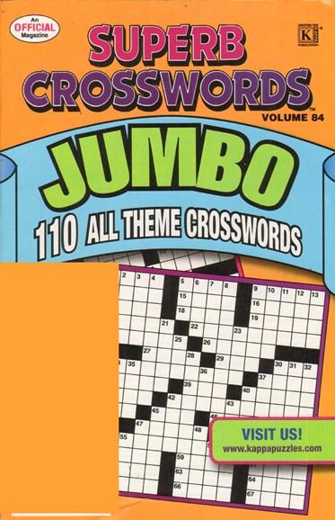 Superb Crosswords Jumbo Cover - 4/1/2011