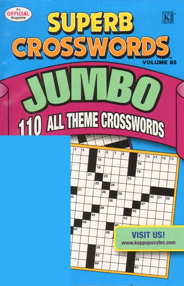 Superb Crosswords Jumbo Cover - 4/1/2011