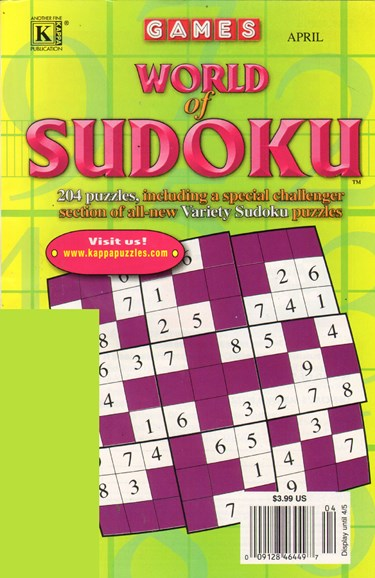 World Of Sudoku Cover - 4/1/2011