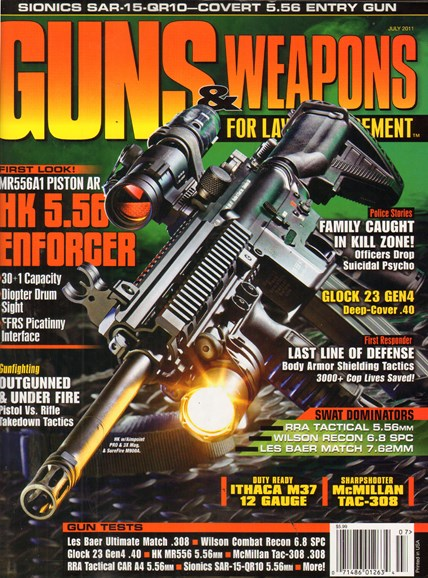 Guns & Weapons For Law Enforcement Cover - 7/1/2011