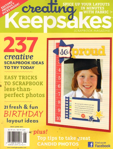 Creating Keepsakes Cover - 6/1/2011