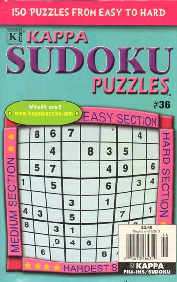 Blue Ribbon Kappa Sudoku Puzzles Cover - 5/1/2011