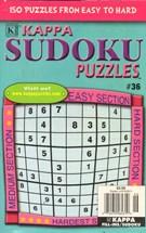 Blue Ribbon Kappa Sudoku Puzzles Magazine 5/1/2011