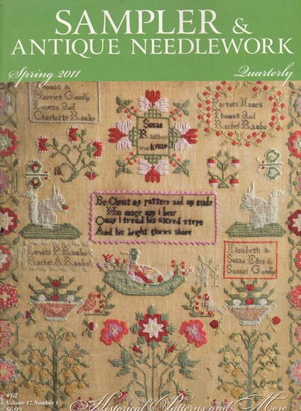 Sampler & Antique Needlework Qtry Magazine Cover - 4/1/2011
