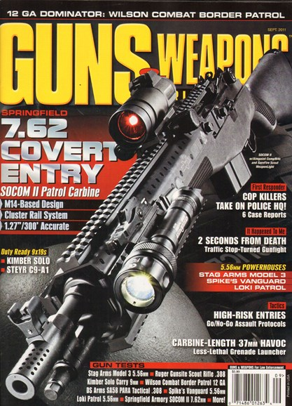 Guns & Weapons For Law Enforcement Cover - 9/1/2011
