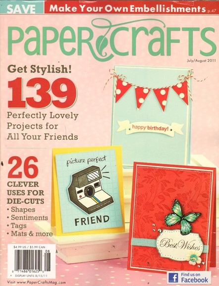 Paper Crafts Cover - 7/1/2011