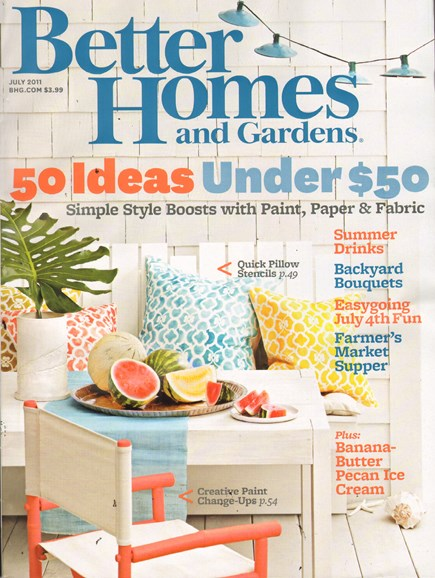 Better Homes & Gardens Cover - 7/1/2011