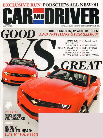 Car And Driver Cover - 8/1/2011