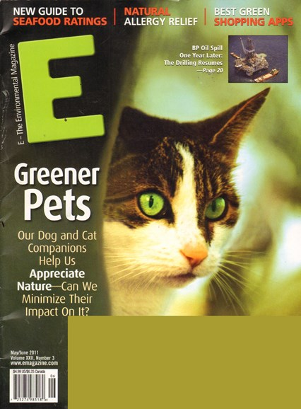 E: The Environment Magazine Cover - 5/1/2011