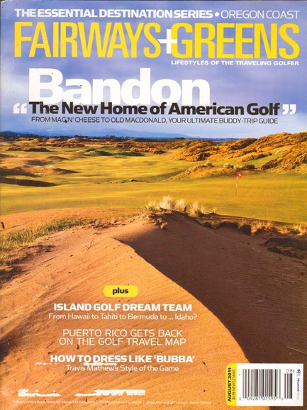 Golf Getaways Cover - 8/1/2011