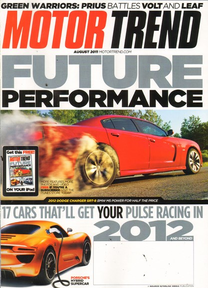 Motor Trend Cover - 8/1/2011