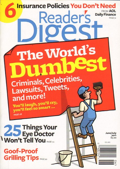 Reader's Digest Cover - 6/1/2011