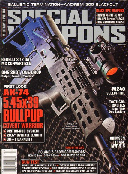 Special Weapons for Military & Police Cover - 8/1/2011