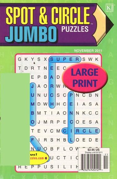 Spot & Circle Jumbo Cover - 11/1/2011
