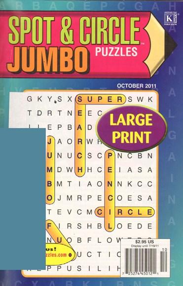 Spot & Circle Jumbo Cover - 10/1/2011