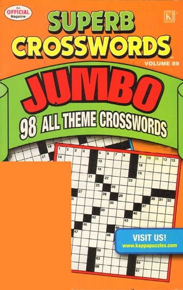 Superb Crosswords Jumbo Cover - 8/1/2011