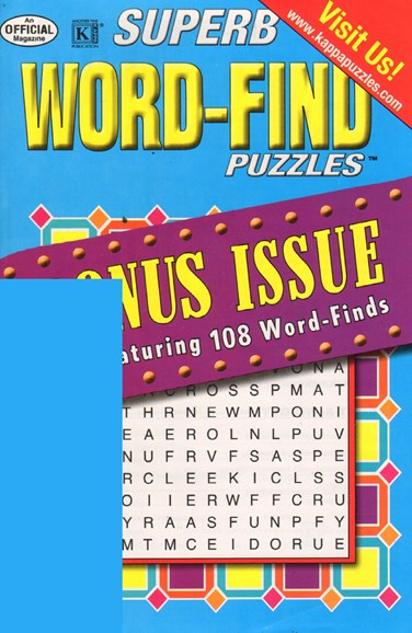Superb Word Find Bonus Cover - 8/1/2011