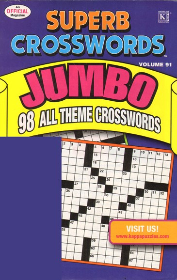 Superb Crosswords Jumbo Cover - 8/1/2011