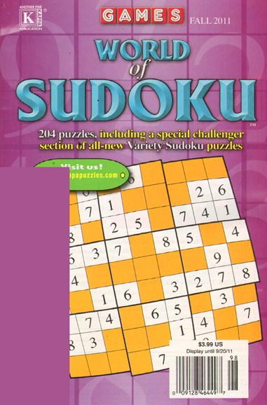 World Of Sudoku Cover - 9/1/2011
