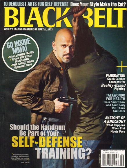 Black Belt Magazine Cover - 9/1/2011