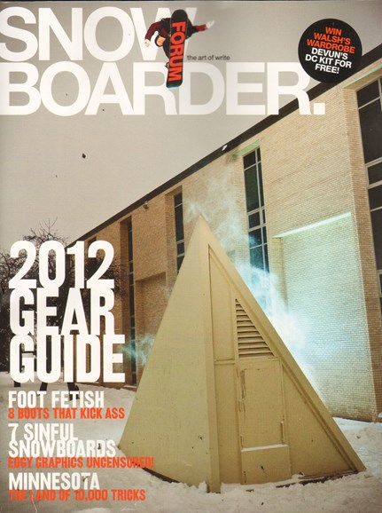 Snowboarder Cover - 9/1/2011