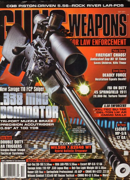 Guns & Weapons For Law Enforcement Cover - 10/1/2011