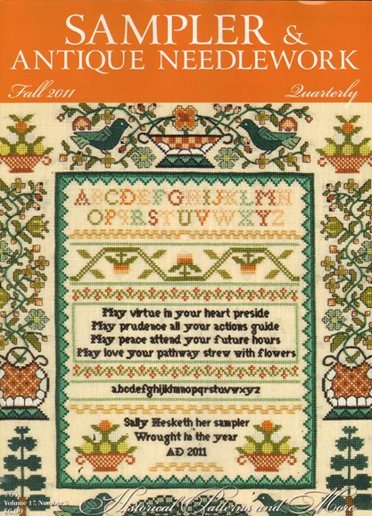 Sampler & Antique Needlework Qtry Magazine Cover - 9/1/2011