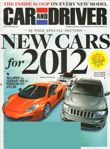 Car And Driver Cover - 9/1/2011