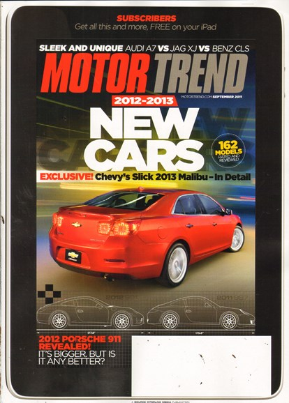 Motor Trend Cover - 9/1/2011