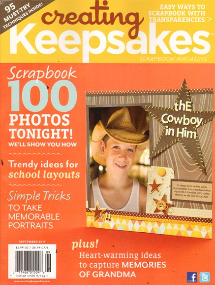 Creating Keepsakes Cover - 9/1/2011