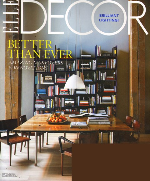 ELLE DECOR Cover - 9/1/2011