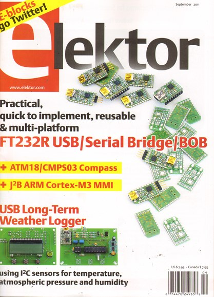 Elektor - North American Edition Cover - 9/1/2011