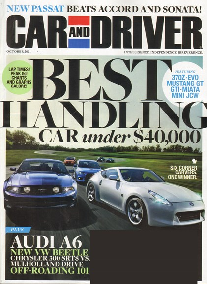 Car And Driver Cover - 10/1/2011