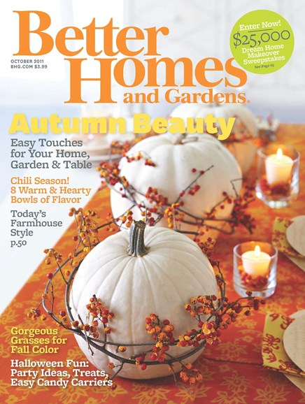 Better Homes & Gardens Cover - 10/1/2011
