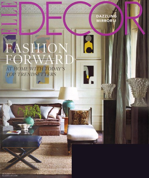 ELLE DECOR Cover - 10/1/2011