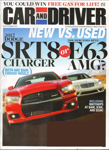 Car And Driver Cover - 11/1/2011