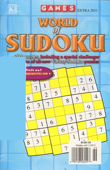 World Of Sudoku Cover - 10/1/2011