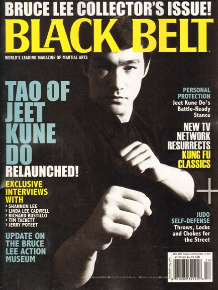 Black Belt Magazine Cover - 12/1/2011